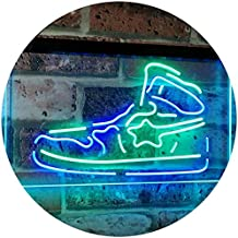 Sneaker Shoe Sport Running Store Shop Display Dual Color LED Neon Sign Green & Blue 300 x 210mm st6s32-i3071-gb