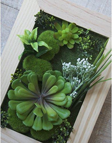 Jardín Vertical Decorativo con Plantas Artificiales Hogar y más - G