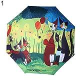 AchidistviQ Portable Lovely Dessin animé de Chat Motif d'été Anti UV Sun Pluie...