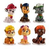 Patrulla Canina - Mini Figuras para Decorar Tartas de Cumpleaños Infantiles - Set de 6 - 4,5 cm