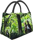 Bolsas de almuerzo Predatory Grass Hide Wood Insulation Portable Tote Bag Lunch Box con cremallera