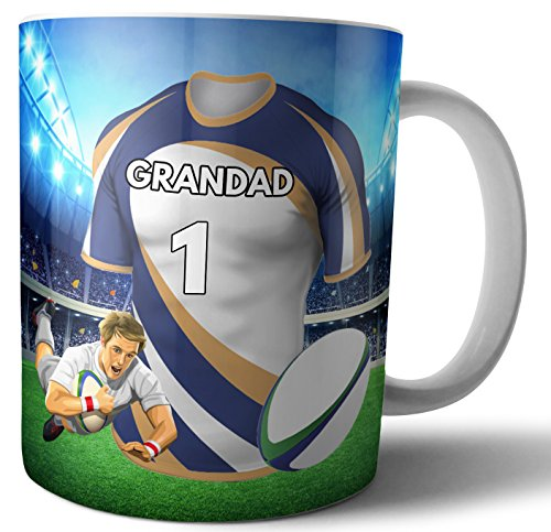 Tee-Kaffeetasse Rugby-Geschenk für einen Großvater – The Brumbies Farben