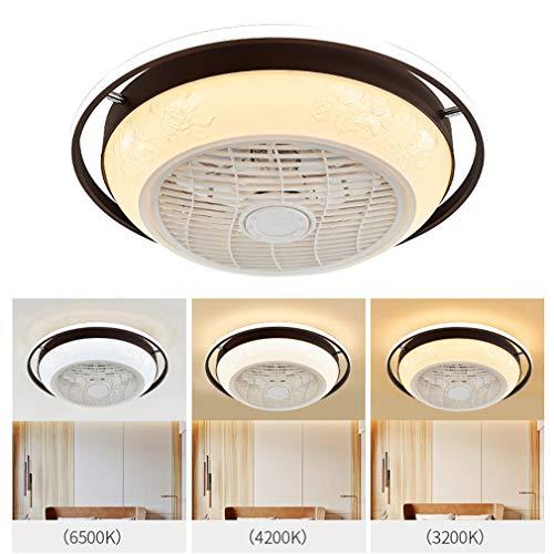 Plafondventilator met verlichting, Negatief ion Ontgeuring Lucht zuiveren, Verstelbaar Windsnelheid, LED Dimbaar Plafondlamp met afstandsbediening voor woonkamer Ventilatorlamp