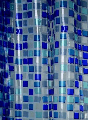 Blue Canyon Duschvorhang aus PVC, Mosaikdesign, Blau