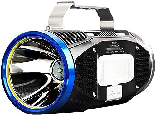 DQZLFYH Projecteur portatif Ultra-Lumineux à Del de Recherche d'une Lampe de Poche de pêche USB chargeant Une Charge multifonctionnelle