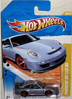 Hot Wheels - 2011 New Models 36/50 - Porsche 911 GT3 RS 36/244, 1:64 Scale (Dark Silver)