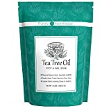 Tea-Tree-Oil-Foot-Soak with Epsom Salt - 3 Pound-Made in USA, Alleviate Toenail Fungus, Athlete's Foot and Stinky Foot Odors. Softens Dry Calloused Heels, Leaving Feet Feeling Soft, Clean and Healthy