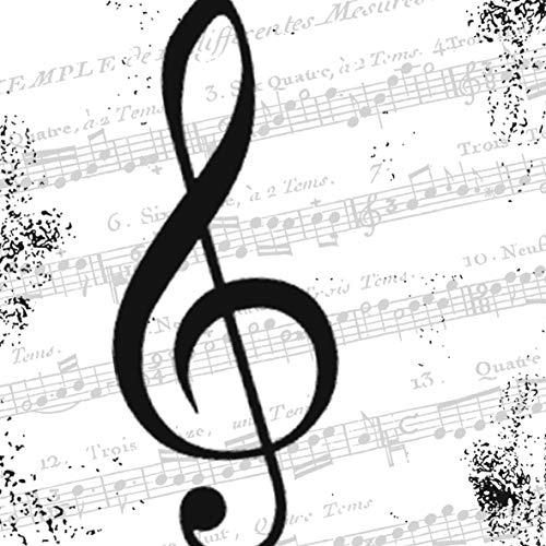 Home Collection Servietten (2er Set / 40Stück) 3-lagig 33x33cm Notenschlüssel I Love Music