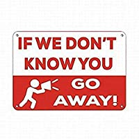 あなたが行かないとわからないなら メタルポスタレトロなポスタ安全標識壁パネル ティンサイン注意看板壁掛けプレート警告サイン絵図ショップ食料品ショッピングモールパーキングバークラブカフェレストラントイレ公共の場ギフト