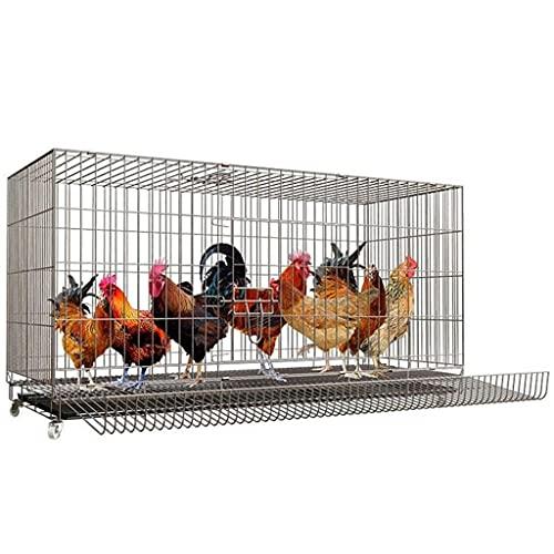 Piccola casa di pollo Gabbia Per Polli, Gabbia Per Allevamento Extra Large, Pollaio Per Uso Domestico, Adatto Per Polli, Anatre, Oche E Cani Con Puleggia Mobile Per Vassoio, Vassoio Per Uova, Lavandin