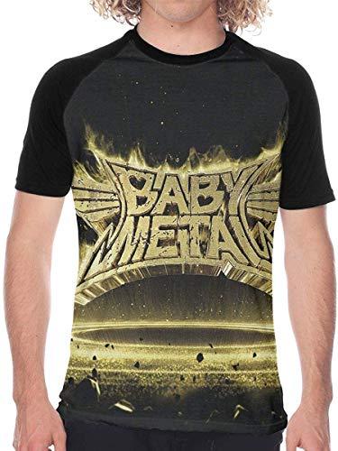 Herren Kurzarm Babymetal Metal Resistance Herren Baseball T-Shirt Weiche Kurzarm T-Shirts Geschenk