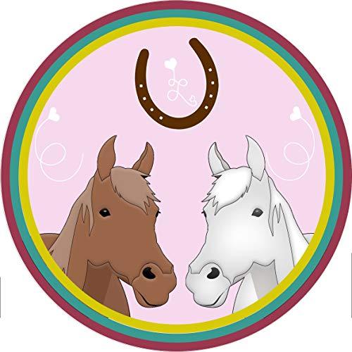 Tortenaufleger Pferd, Pferdetorte // Kuchendekoration Pferd // 20cm Durchmesser // 100{d9e2aac3058534138b0999b5f4c536f11be7a22325901899ad31e5e0bc88fec5} Essbar (Oblatenpapier)
