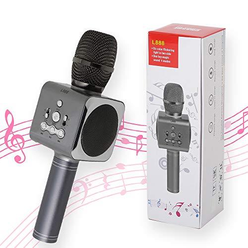 Harmony Partners カラオケマイク Bluetooth 電波法認可品 技適 ワイヤレス ブラック 適法品