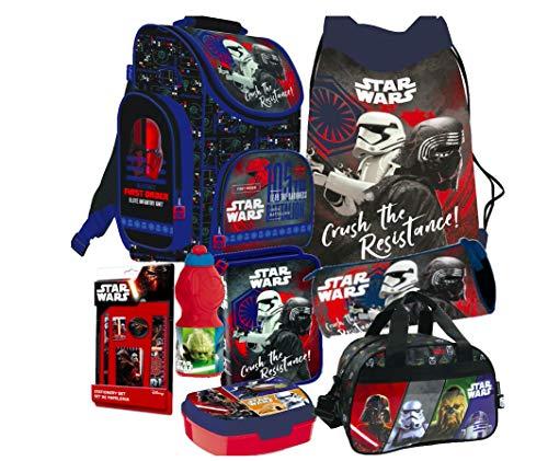 Star Wars Clone 8 Teile Schulranzen Ranzen Tornister Rucksack Tasche Federmappe Sporttasche Set inklusive Sticker-von-Kids4shop