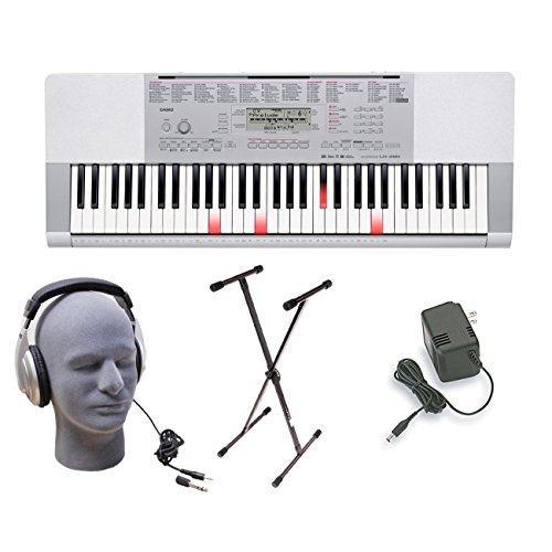 Casio LK-280 Lighted Key Premium Keyboard Pack with Headphones, Power Supply, and Stand