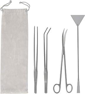 ATPWONZ Aquarium-Pinzette, Schere, Spachtel, Werkzeug, 4-in-