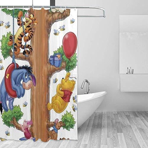 shenguang Badezimmer Duschvorhang Lustige Winnie The Pooh Home Decor Duschvorhänge mit Haken 60 'X 72'