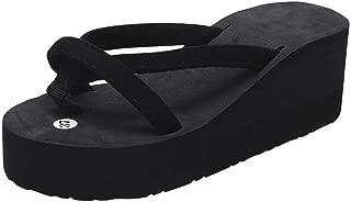 Summer Sandals, Summer Fashion Women Slipper Flip Flops Beach Wedge Thick Sole Heeled Shoes