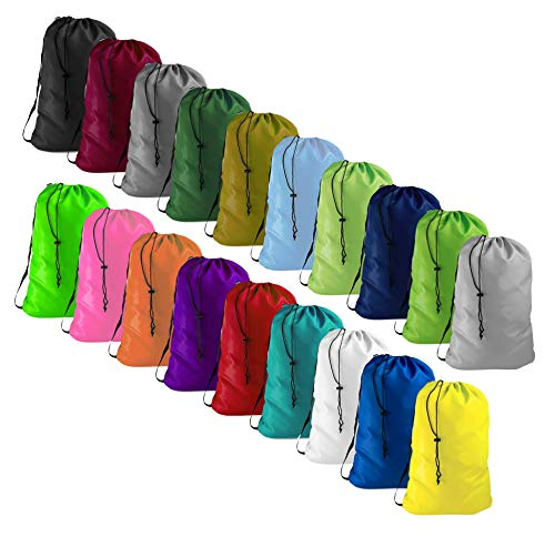 Heavy Duty Laundry Bag with Strap, 30' W x 40' L, Holds 4 Loads or 50 lbs, Camping Tent Storage, Store Blankets, Organize Clothes, Yarn, and Fabric, Plus One Lavender Dryer Sachet (Neon Green)