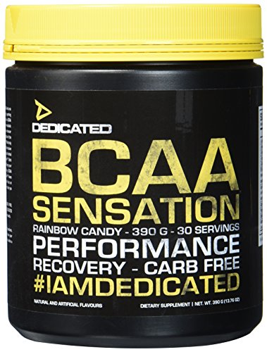 Dedicated Nutrition BCAA Sensation V.2 Supplement, 390 g, Rainbow Candy