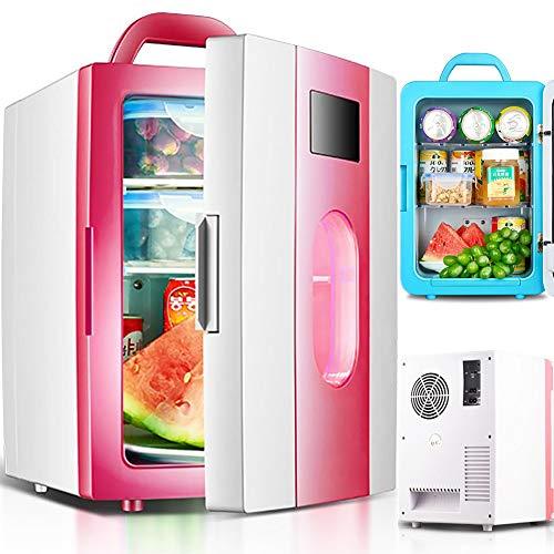 DSMGLRBGZ Nevera Pequeña, Mini Nevera Congelador Pequeño Congelador Vertical 10L 220V AC 12V DC Auto Refrigerador para Mantener Fresco El Ahorro De Energía Refrigeración/Calefacción Familia Oficina,B