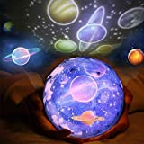 Proyector Baby Star Luz Nocturna, Jiayida Stars Sky Night Projection Rotación de 360 Grados Proyector Sky Lamp de 3 Modos, Regalos Ideales Para Niños, Amigos, Mujeres (Planeta)