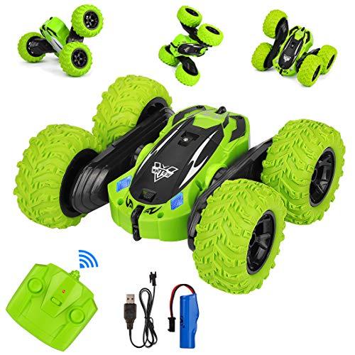 Etmury 4WD Ferngesteuertes Auto Kindergeschenk, Wiederaufladbar RC Stunt Auto mit 360° Rotation und 180° Flip, 2,4Ghz RC Car Buggy Auto Spielzeug für Kinder Jungen Mädchen Erwachsene