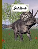 """Sketchbook For Kids: Zuniceratops Dinosaurs Sketchbook,Blank White Pages for Painting, Drawing, Writing, Sketching and Doodling, 122 pages, Size 8.5"""" x 11"""" by Axel Blank"""