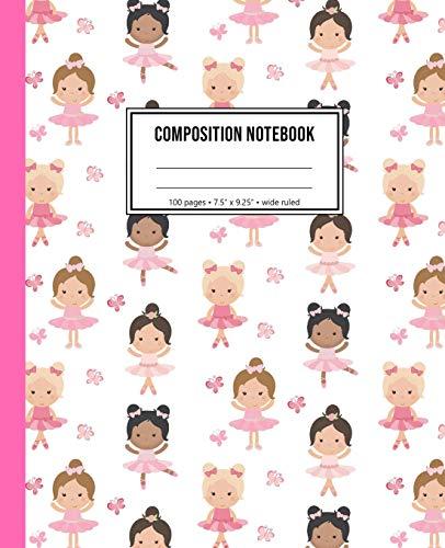 Composition Notebook: Ballerina Notebook For Girls