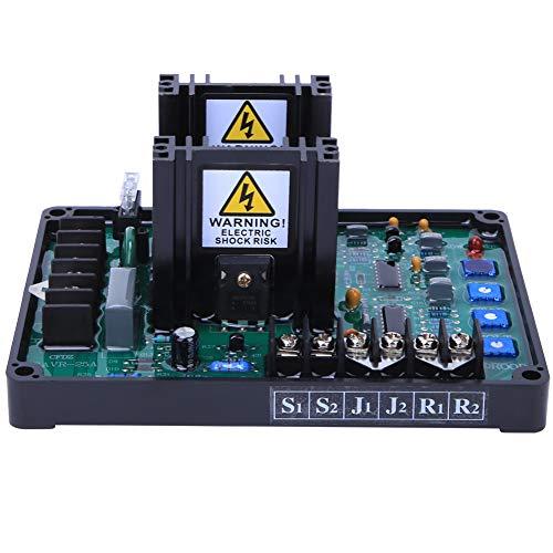 SANON Regulador de Voltaje Automático 1 Fase 2 Cables para Grupo Electrógeno sin Escobillas Avr Gavr-25A