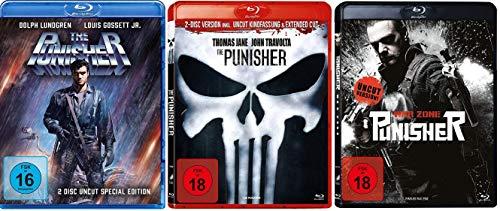 The Punisher Original + The Punisher Remake + Punisher: War Zone / 3 x Uncut [Blu-ray Set]