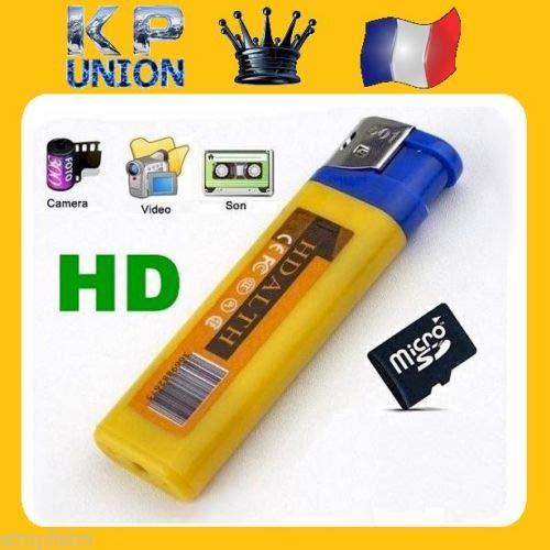 SIMPLISIM: Briquet Camera CACHEE Invisible Discrete Espion HD Enregistrement Video (sans Carte mémoire)