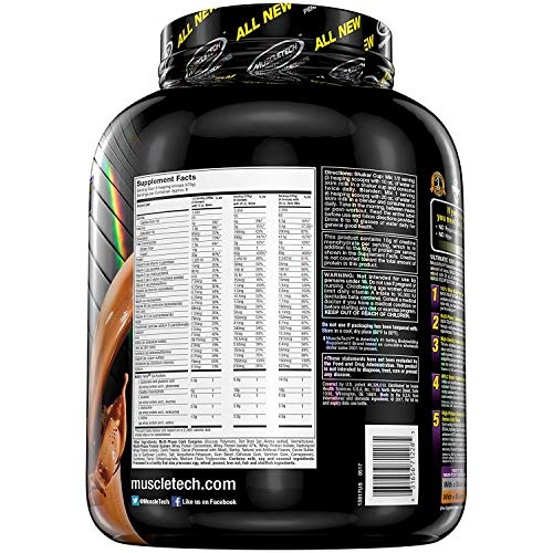 Muscle Tech Mass Tech Extreme 2000 Package of 1 x 3180g Gainer Mass - Carbohydrate Complex - Whey Protein Concentrate and Isolate - Triple Chocolate Brownie