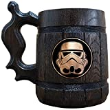 Stormtrooper Beer Mug, Star Wars Wooden Beer Stein, Geek Gift, Personalized Beer Stein, Star Wars Tankard, Custom Gift for Men, Gift for Him