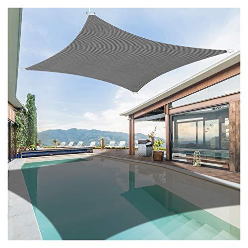 GAOYUY Toldo Vela De Sombra, Toldo con Protección Solar 98% De Bloqueo UV PES Poliéster Impermeable Rectángulo Interior Al Aire Libre del Patio De La Pérgola Fácil De Instalar