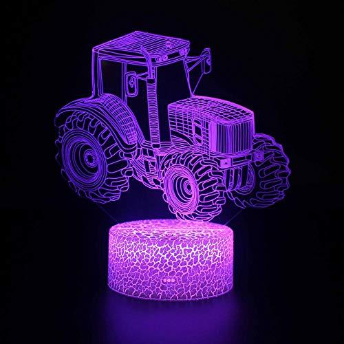 Luz nocturna 3D para lámpara de escritorio para 4 ruedas de accionamiento 5 estado de ánimo multicolor luz blanca cálida cambiar mesa escritorio regalo de vacaciones juguete