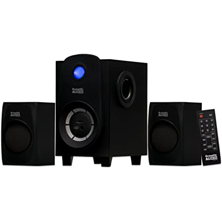 Klip Xtreme BluPulse 2.1 Channel Stereo System w//Subwoofer- 120 Watts Peak 3.5mm Connections- 2X 3 Drivers 1x 5.25 Sub Driver- Digital Display- Black 60W RMS Power- Compatible with Bluetooth