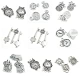 26 Pieces Jewelry Making Charms Alarm Clock Owl Time Gear Wheel Cog Steampunk Key of Bees Pocket