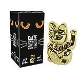 PARTS4LIVING Winkekatze Glückskatze Glücksbringer winkende Katze Gold 15 cm