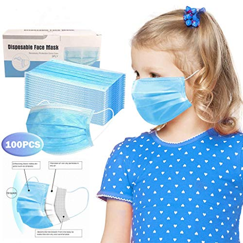 MaNMaNing Niños Protección 3 Capas Transpirables con Elástico para Los Oídos Pack 100 unidades 20704-MaNMaN-A100