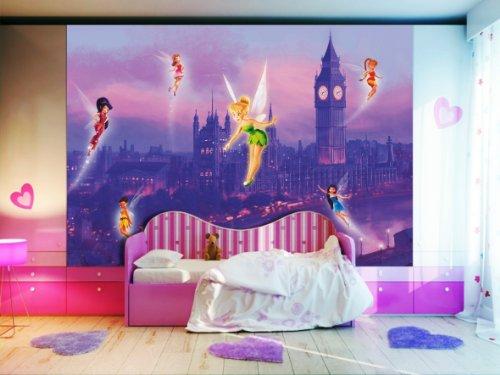 AG Design FTDXXL 0258 Disney Fairies Feen, Papier Fototapete Kinderzimmer- 360x255 cm - 4 teile, Papier, multicolor, 0,1 x 360 x 255 cm