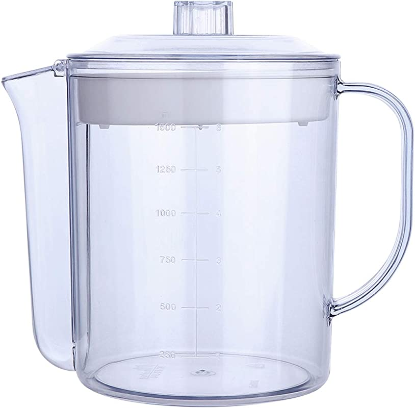 Lawei 51 Oz 6 Cup Fat Separator Measuring Capacity Cup Gravy Separator With Strainer Filter For Healthier Gravy Soup Or Sauce Grease Free