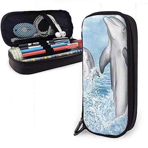 Delphin-Endstück-Bleistift-Federkasten, große Kapazitäts-Bleistift-Beutel-Verfassungs-Beutel