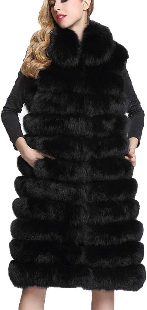 Women Faux Fur Coat Sleeveless Coat