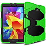 TTYYNN Funda resistente para tablet Samsung Galaxy Tab A 10.1 2016 T585 T580 Funda de silicona suave PC contraportada Kickstand caso,verde