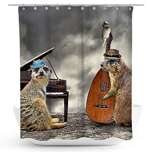 fotobar!style Duschvorhang 175 x 200 cm EIN Motiv aus dem Kalender Tierische Trios