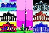 MagnetizeYourLife Berlin - Brandenburger Tor - Reichstag - Fernsehturm - Kühlschrankmagnet Edition Pop Art Städte Reisen Souvenir 8x5,5cm
