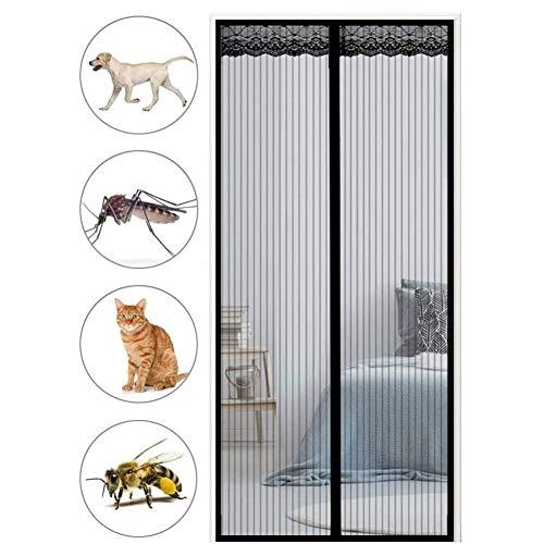 Magnetische vliegengaas, deur, gordijnscheidingswand, magnetische zuigversleuteling, anti-muggengordijn, mute-home partitie, magnetische zelfabsorptie, anti-muggengordijn 110x240cm(43x94inch) zwart