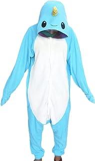 WOTOGOLD Animal Cosplay Costume Narwhal Adult Children Pajamas f46771c65