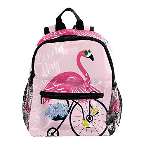 Staroutah Rucksack mit großem Fassungsvermögen Leichter Tagesrucksack Multifunktions-Laptop für Reisesport Schule Sonnenbrille Flamingo-Fahrrad für Mädchen und Jungen Kinder